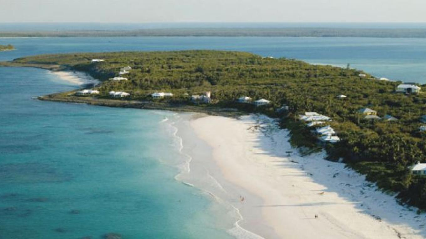 Aerial view of Harbour Island, Bahamas – Valentine's Resort