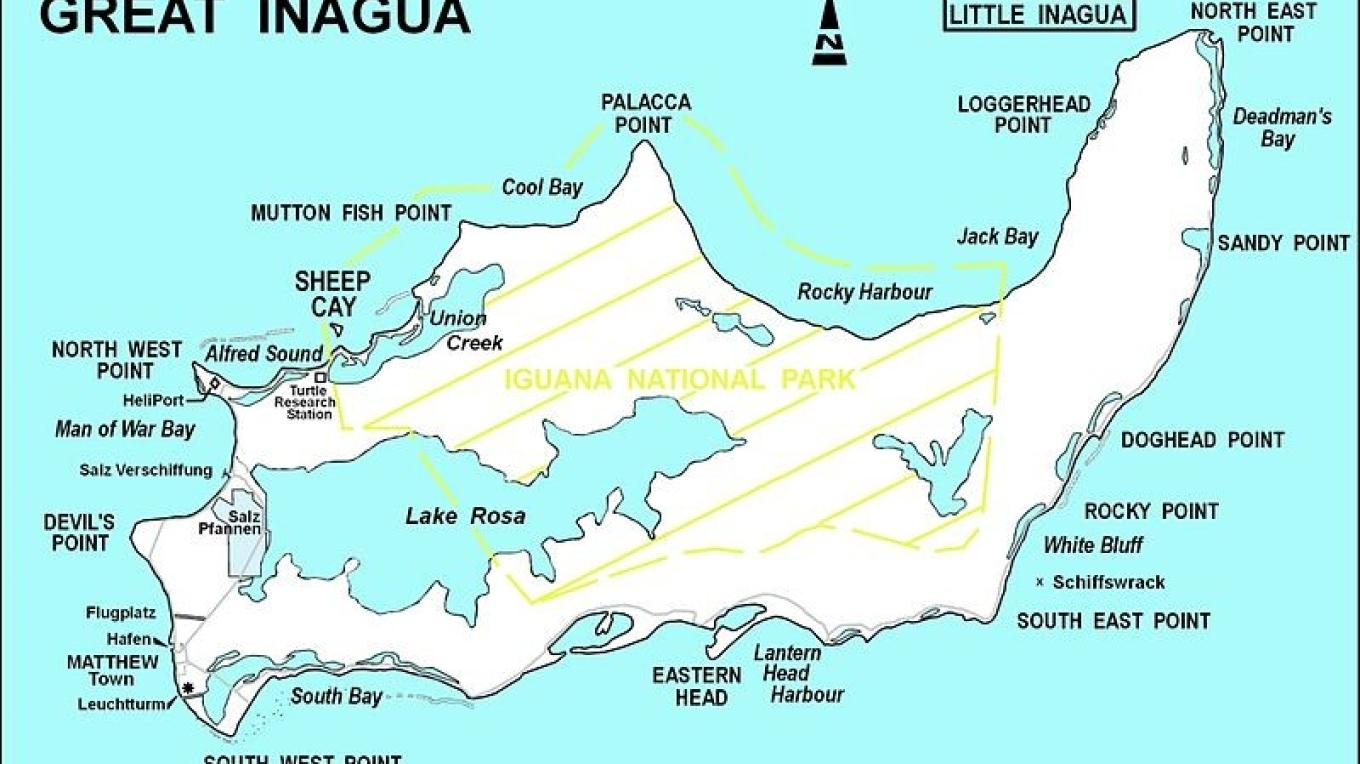 Map showing area of Inagua National Park. – Bahamas National Trust