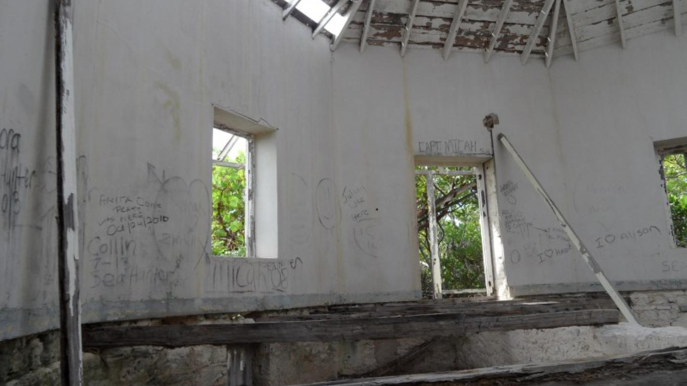 Inside Castle Island Lighthouse – Patricka Ferguson, Yahaka Island Tours