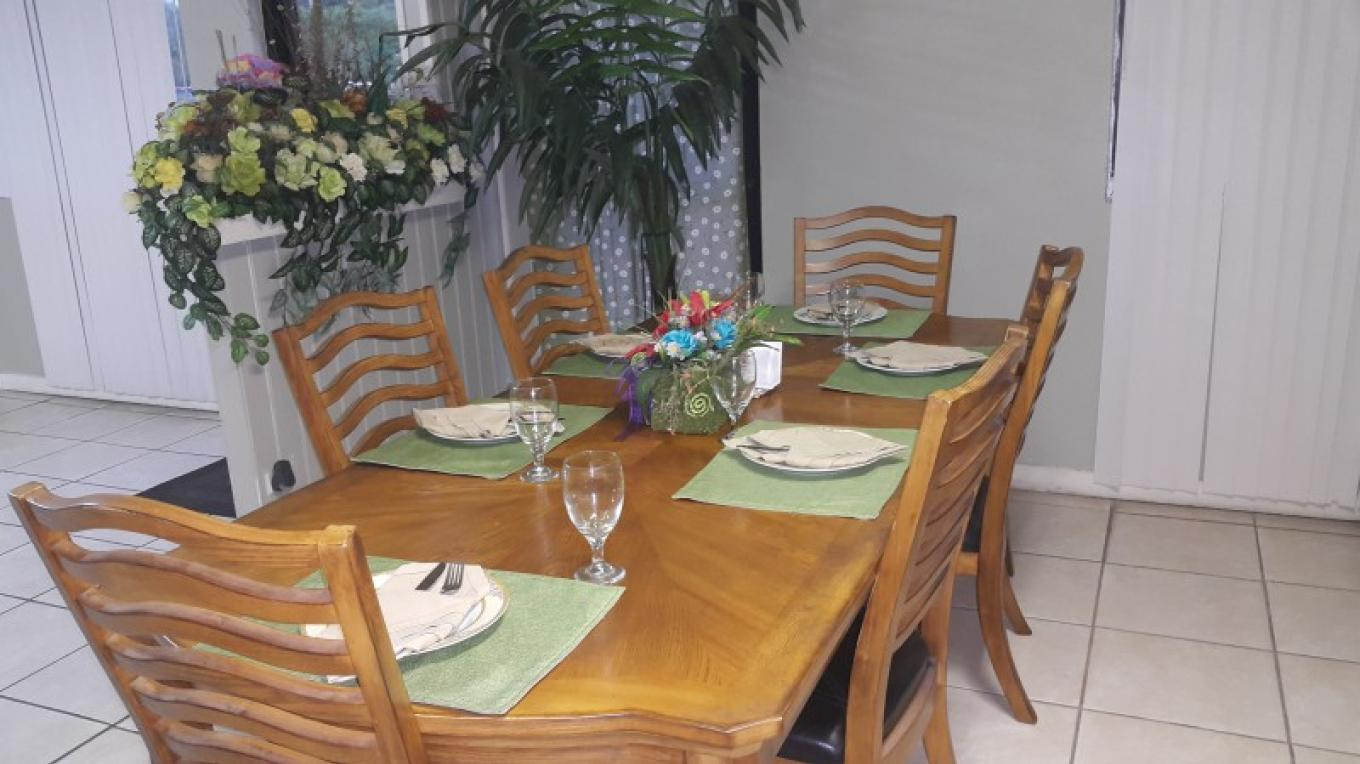Table setting inside the restaurant – Lanesha Johnson