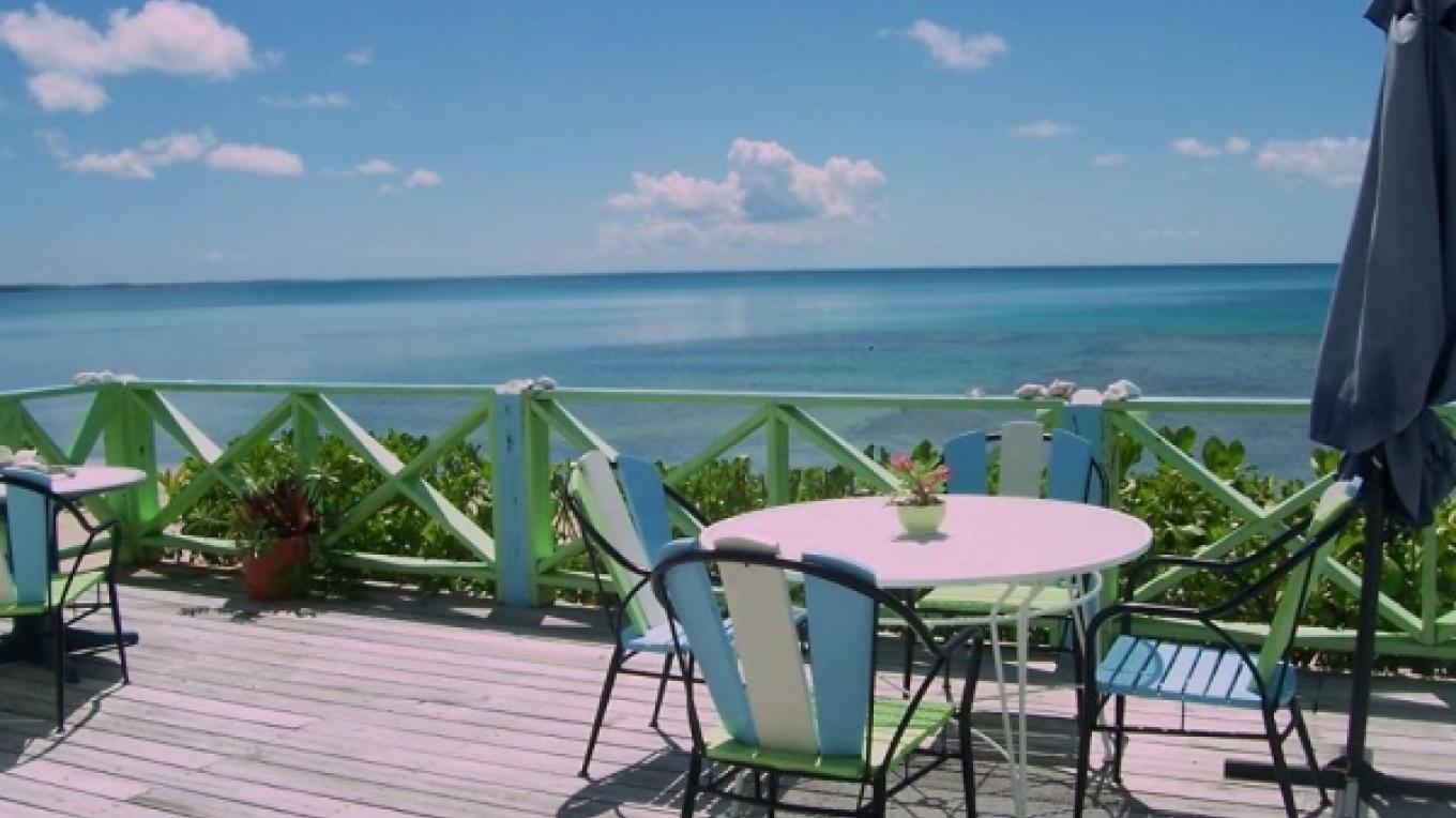 View of the turquoise blue waters from the patio – tripadvisor