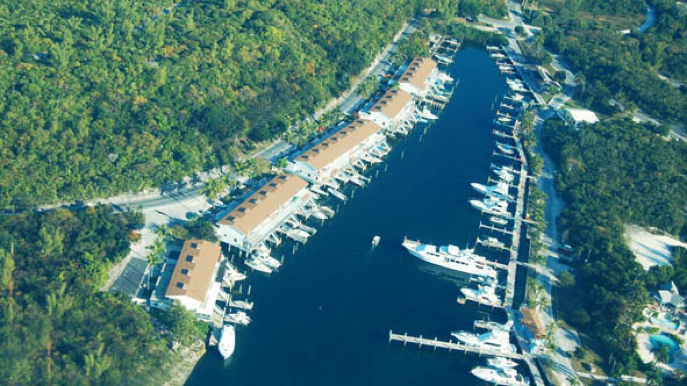 Aerial View of Great Harbour Cay Marina – Berry Islands Tourism Representative