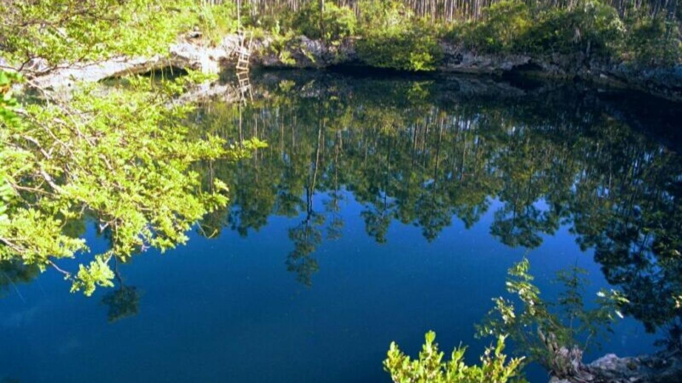 Photo of Uncle Charlie's Blue Hole. – Ministry of Tourism