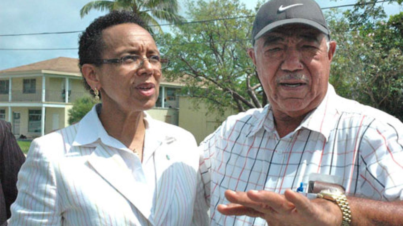 Rev. Philip M. Bethel, former Member of Parliament and Cabinet Minister, pictured on right. – the bahamasweekly