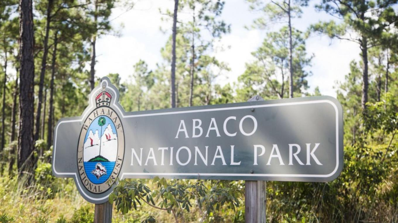 Sign at the entrance to the Abaco National Park – Bahamas Ministry of Tourism