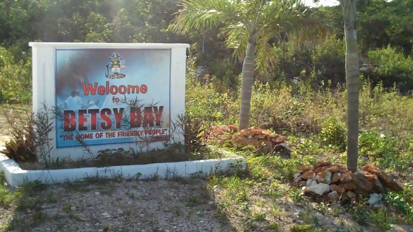 Entrance Sign to Betsy Bay Settlement in Mayaguana