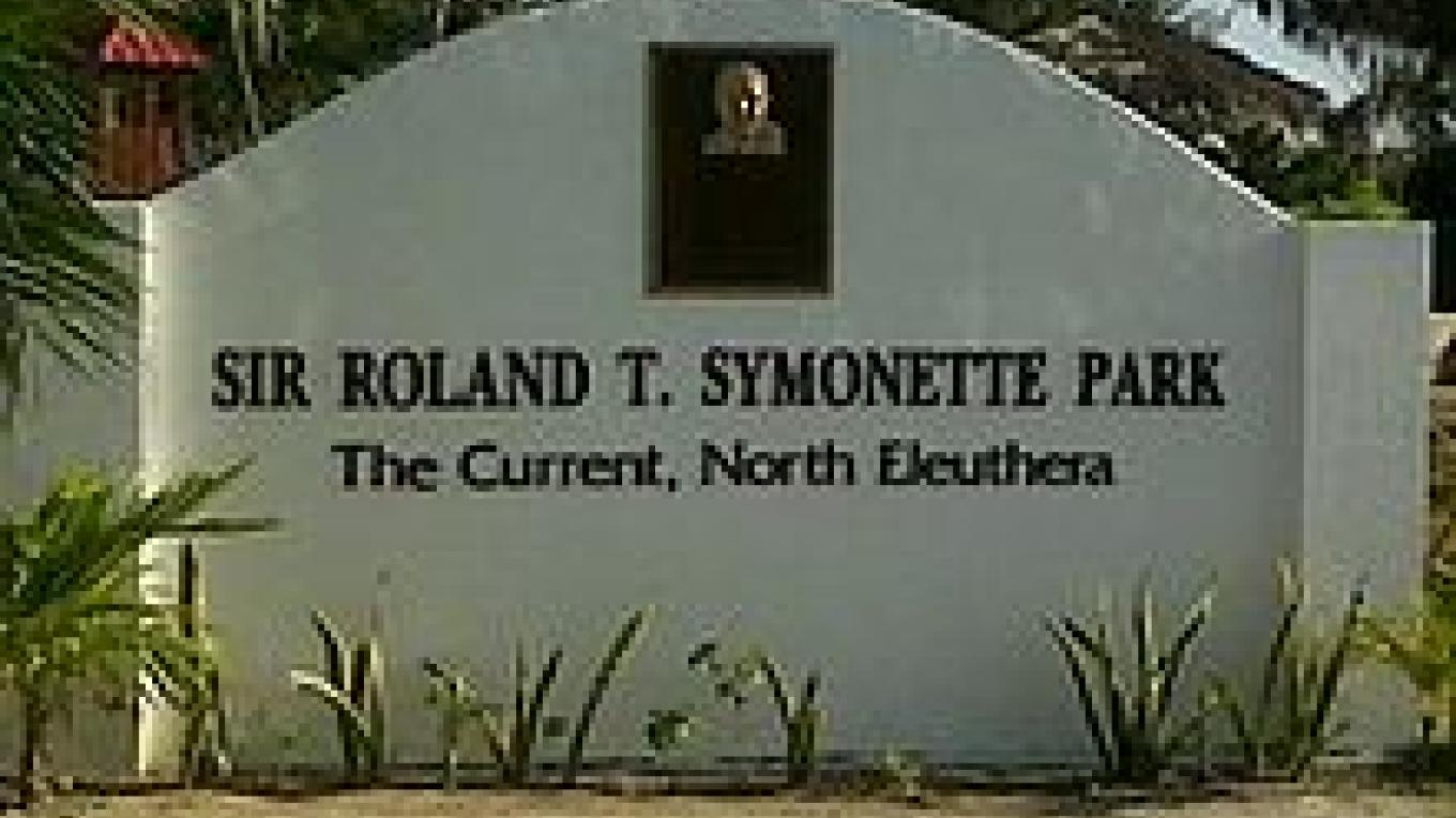 Sign at the entrance of Sir Roland Symonette Park – wikipedia