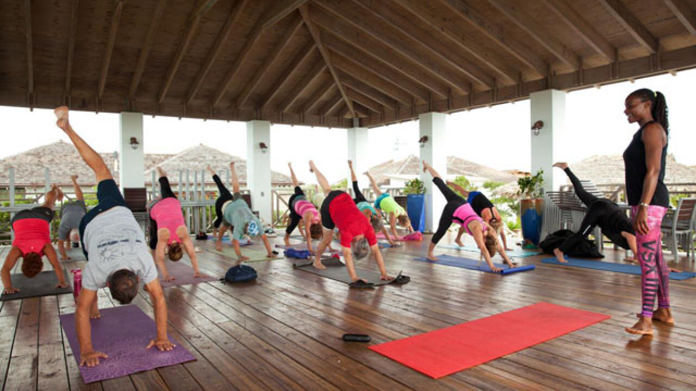Guests doing Yoga at Lumina Point Resort & Spa – Lumina Point Resort & Spa