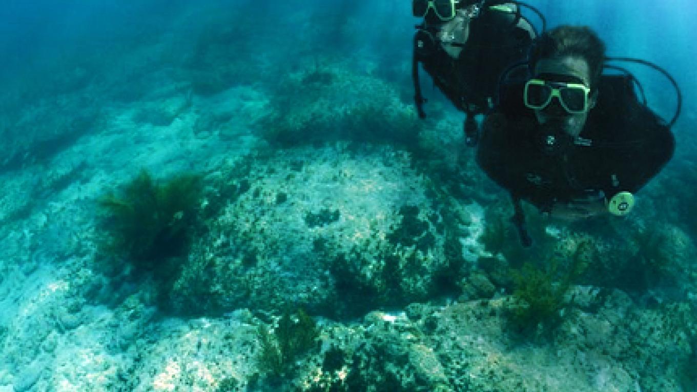 Scuba Divers at the Bimini Road – Bimini Under Sea