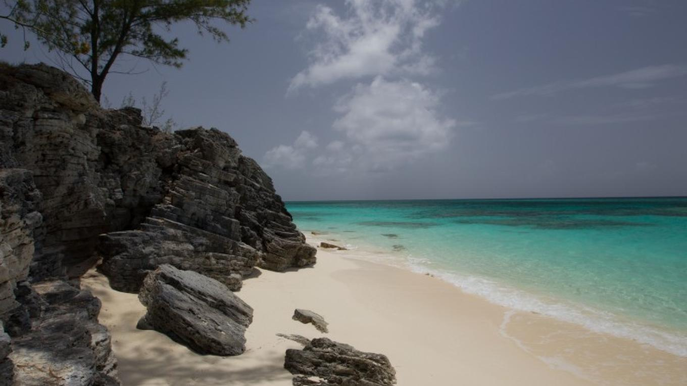 One of the beaches on Long Cay.