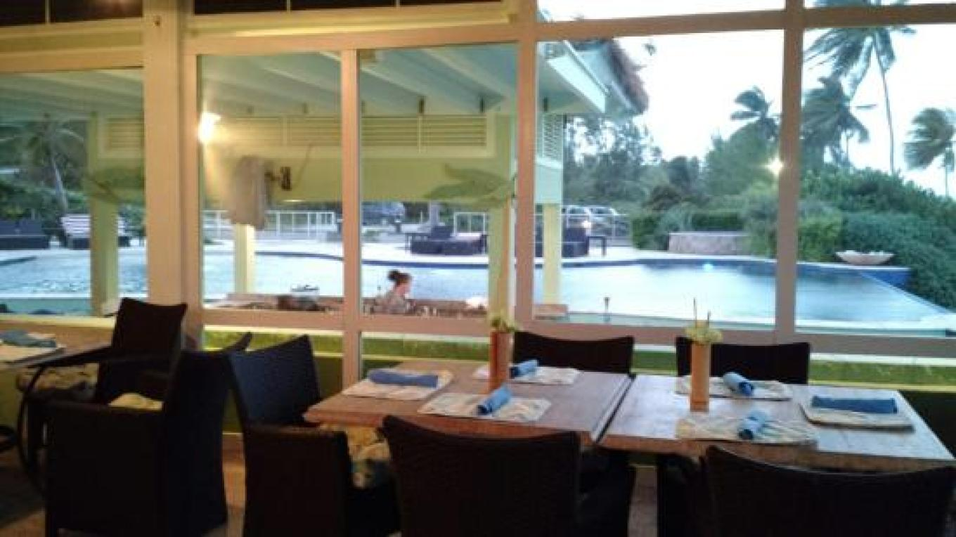 View of Sammy's pool bar from inside the dining area – tripadvisor