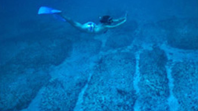 Tourist diving at the Bimini Road to Atlantis – Bimini Under Sea