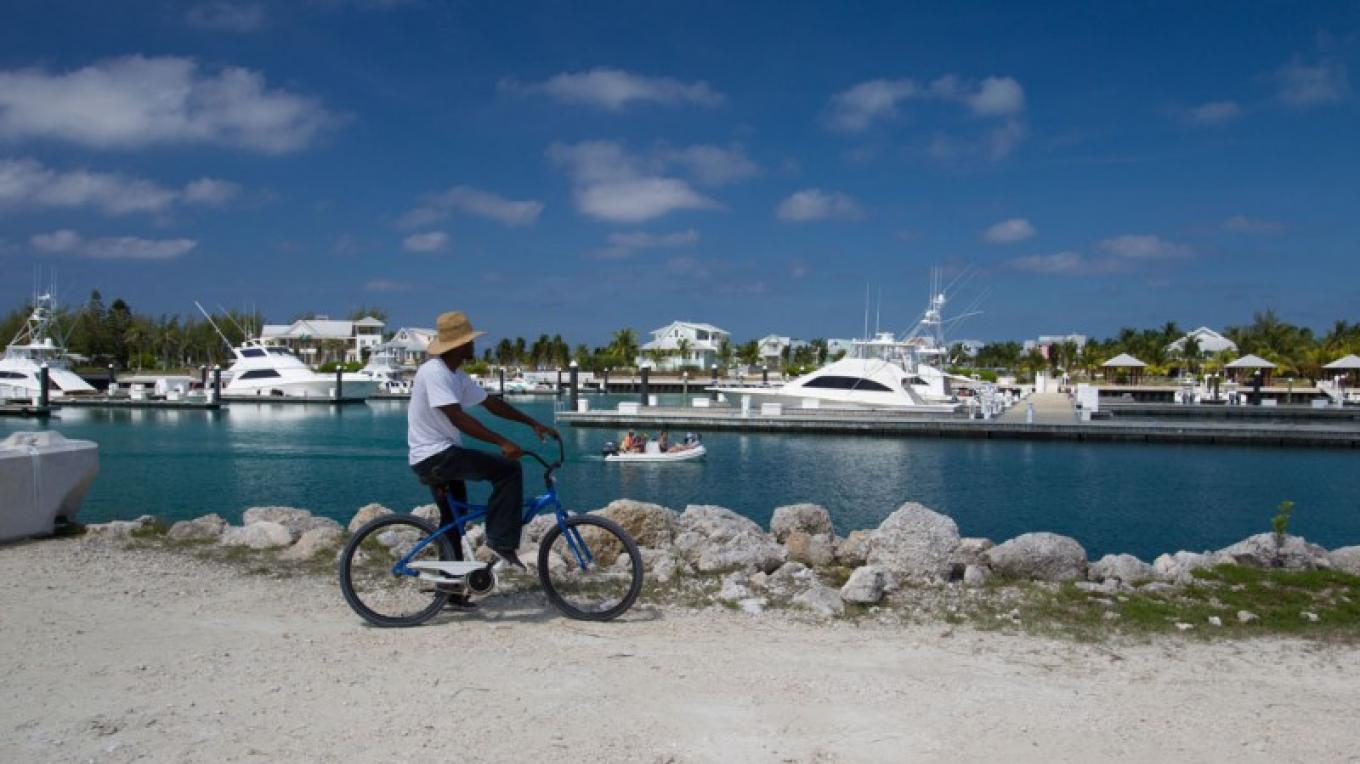 Man Biking on Chub Cay – Bahamas Ministry of Tourism