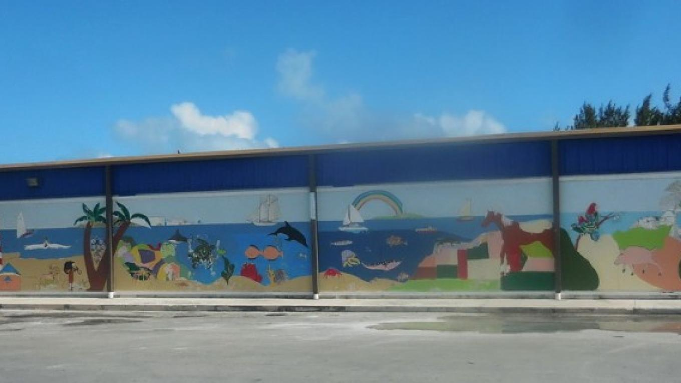 This mural on the Standard Hardware building in downtown Marsh Harbour is a treat for visitors passing by. – Dave Ralph