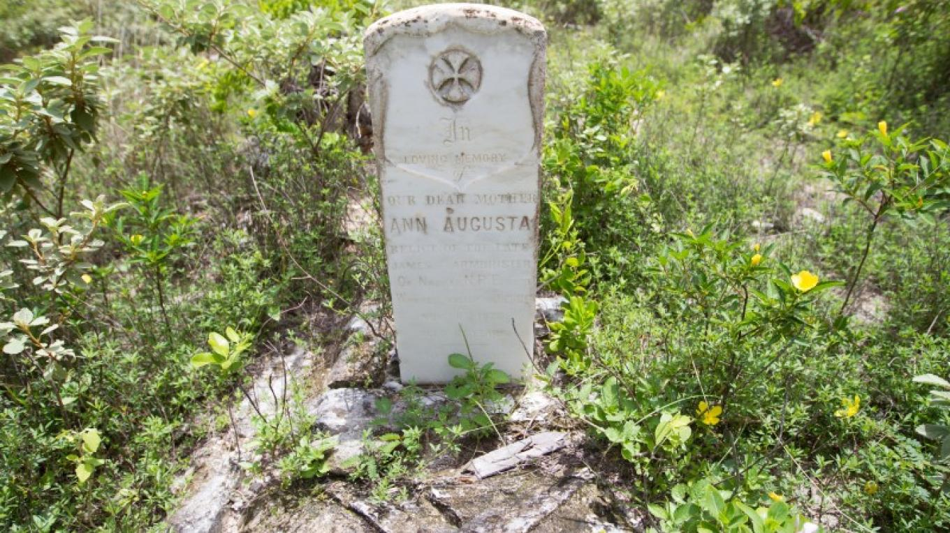 Headstone on Grave in the Cemetery at St. David & St. Augustine's Anglican Church in Albert Town on Long Cay. – Bahamas Ministry of Tourism