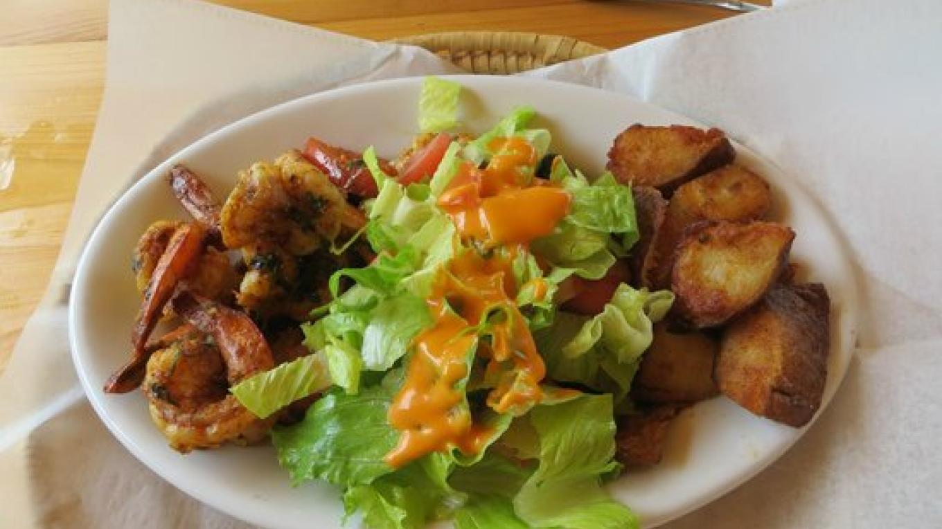 Shrimp with salad – tripadvisor