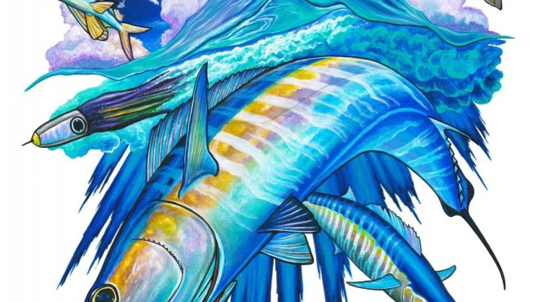 Wahoo Smackdown Artwork – David Dunleavy / Bimini Big Game Club Resort & Marina