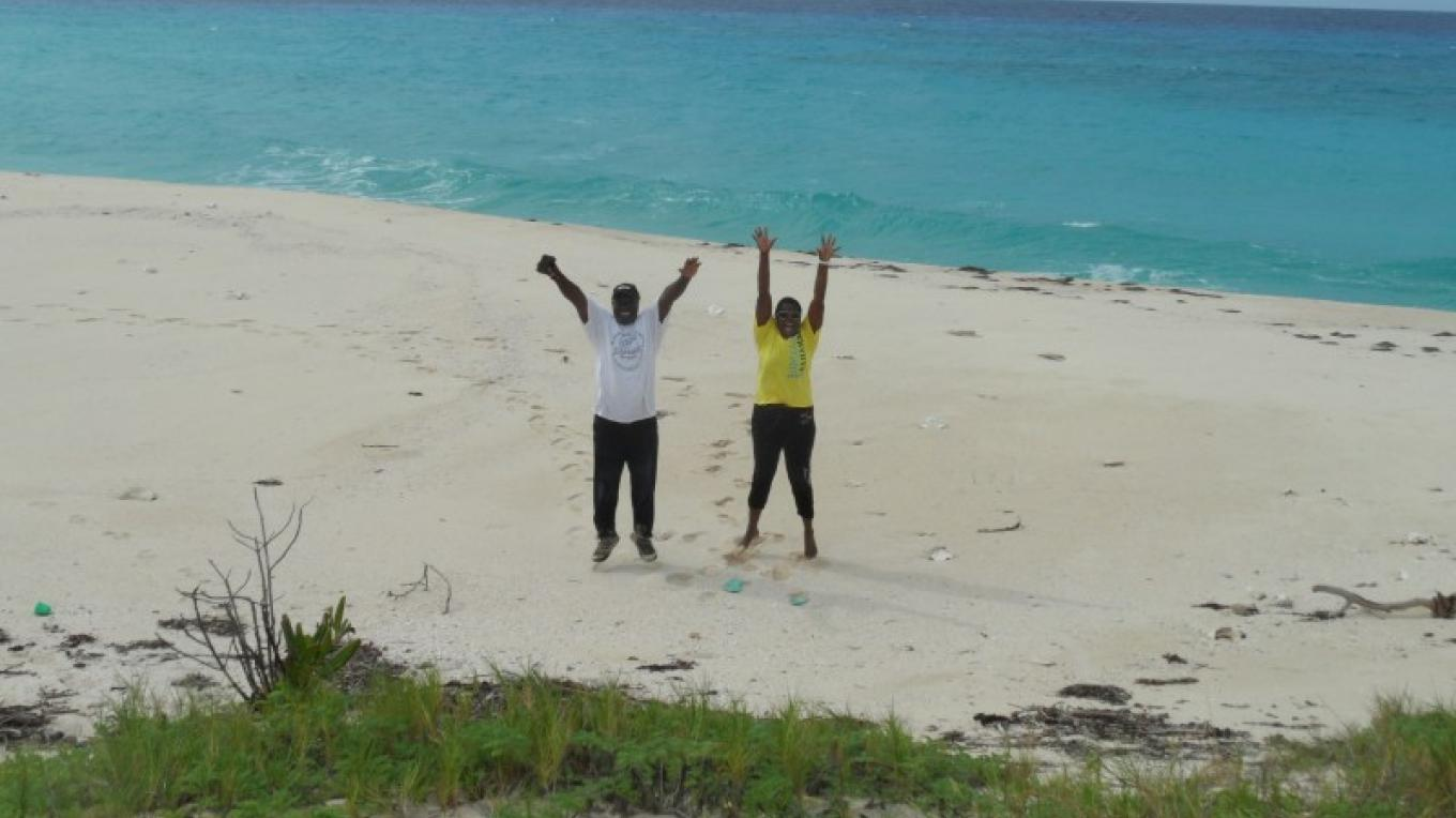 Having fun on Castle island – Patricka Ferguson, Yahaka Island Tours