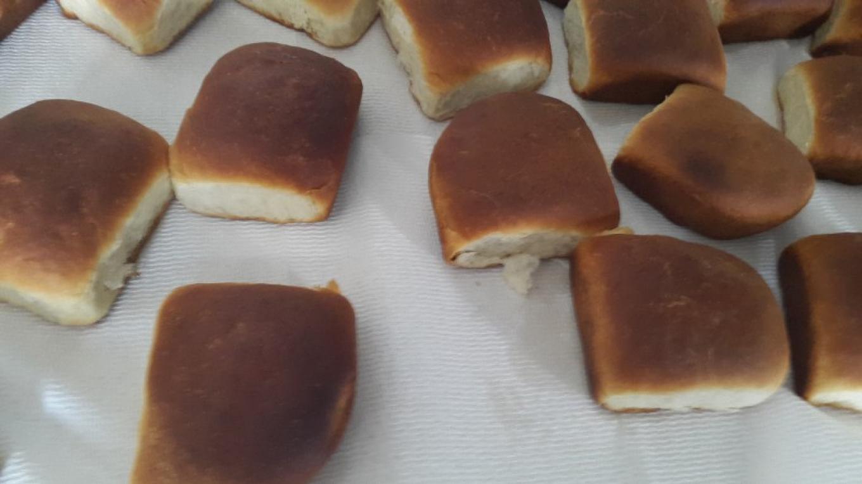 Fresh Baked bread buns by Mrs. Merlene Dean. A – Mrs. Samantha Gierszewski-Fox