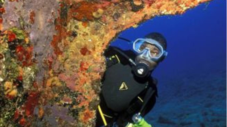 An underwater wreck. – Brendal's Dive Center