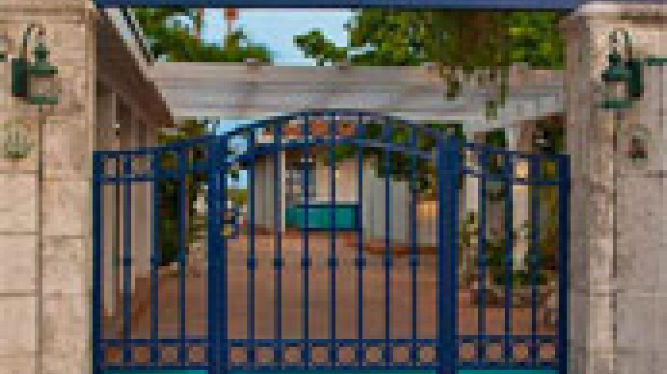 The gate entrance of Big Game – Bimini Big Game Club Resort and Marina
