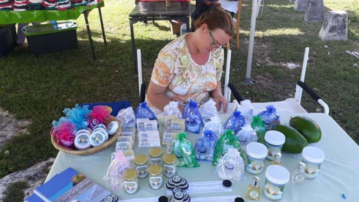 Ms. Karin Kuska displaying her products at the Goombay Festival. All items are locally made. – Ms. Samantha Gierszewski-Fox