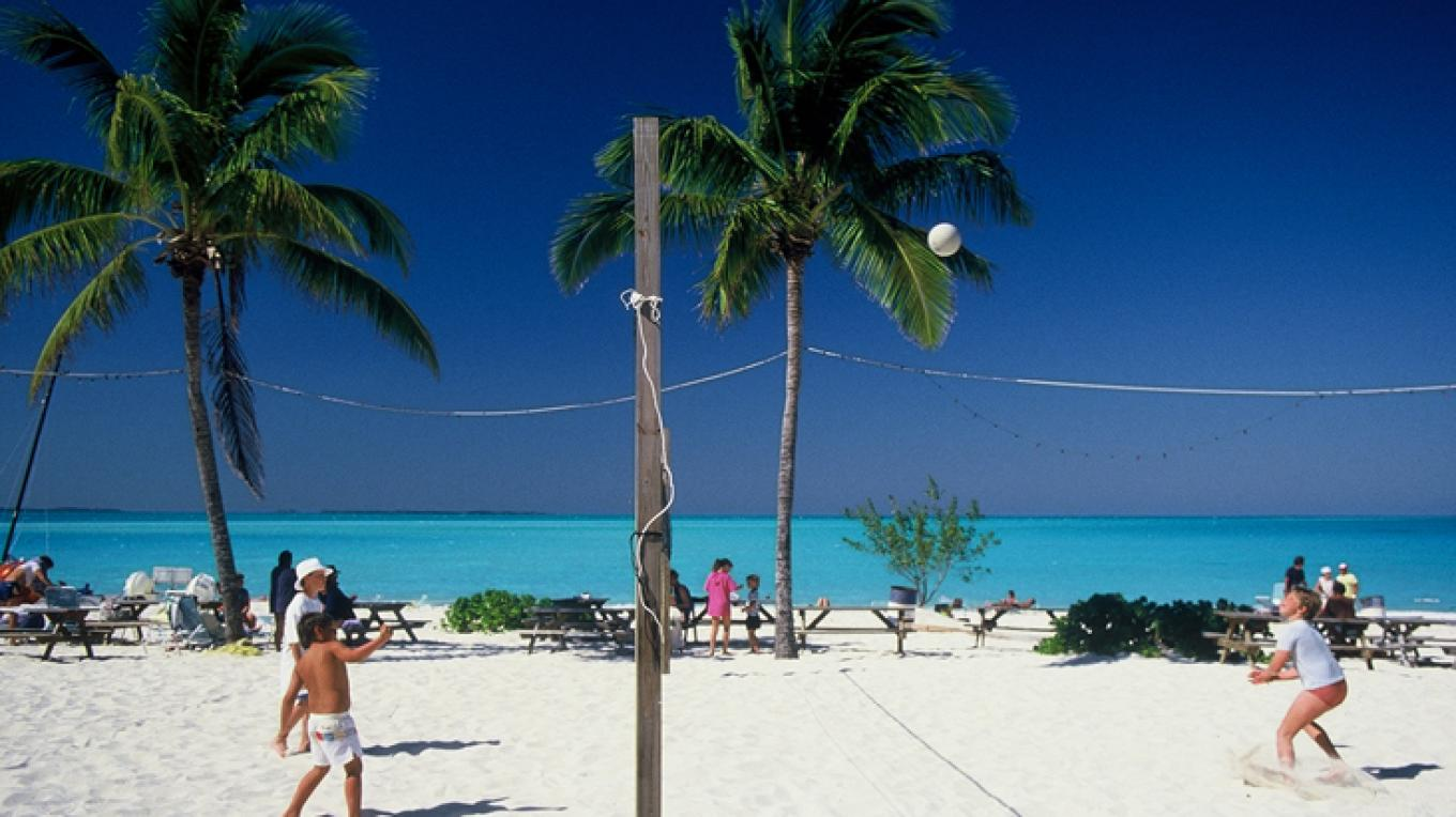 A fun day playing volleyball at Treasure Cay Beach. – Rhonda