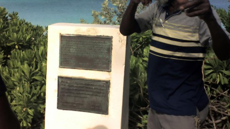 Mr. Clifford Fernander gives a tour at the Nao Santa Maria Monument in Landfall Park, San Salvador, – Mr. Clifford Fernander, San Salvador, The Bahamas