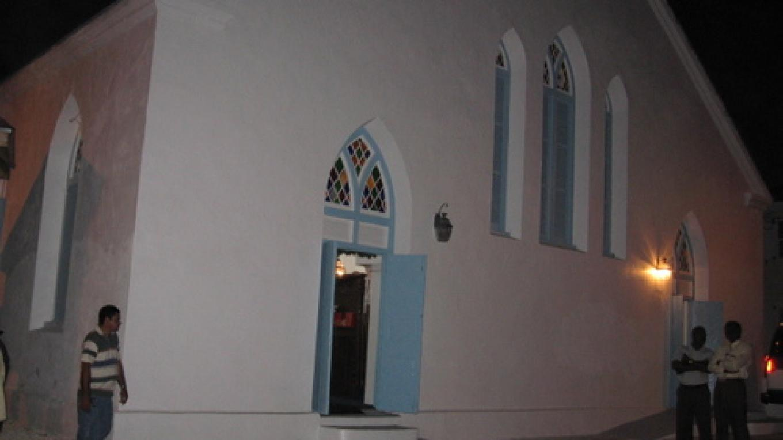 Outside the Methodist Church at night – wikiGOGO