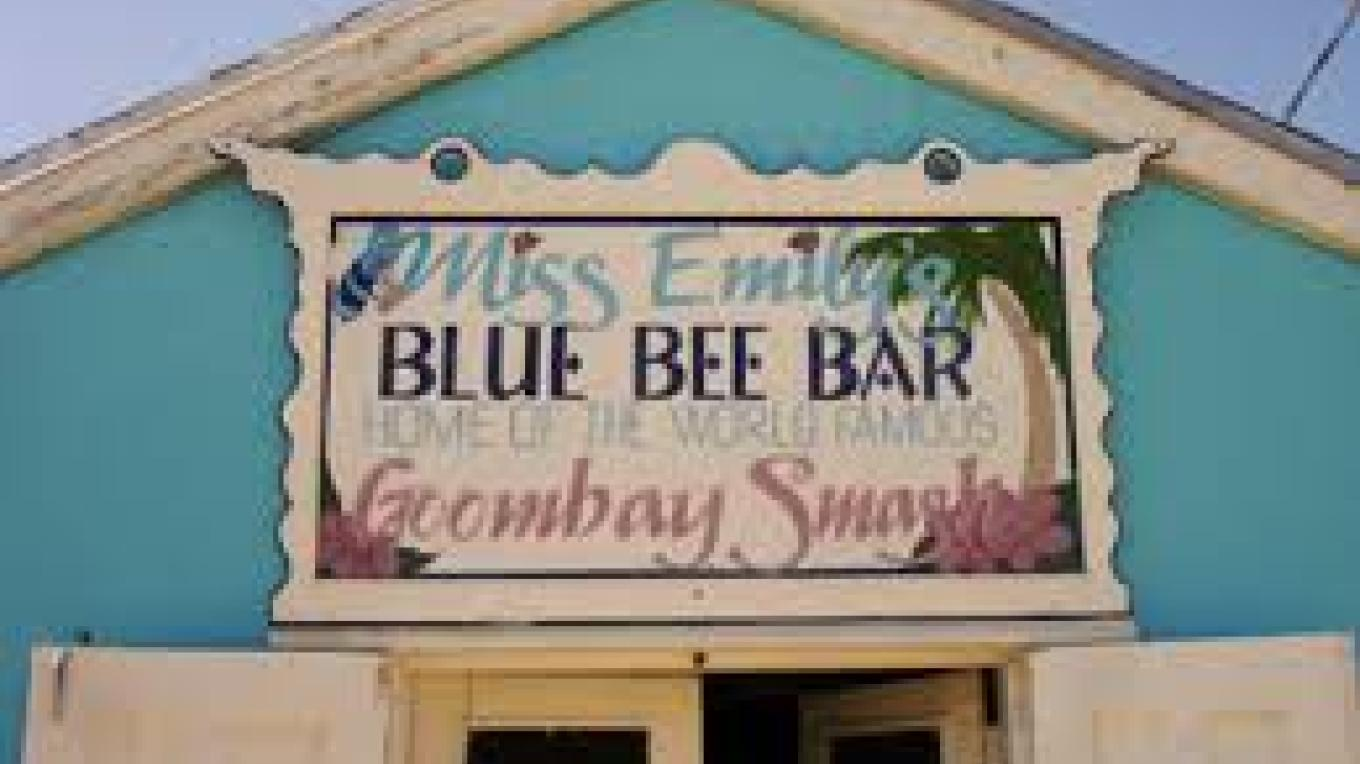 Entrance to Miss Emily's Blue Bee Bar – Abaco Tourist Office