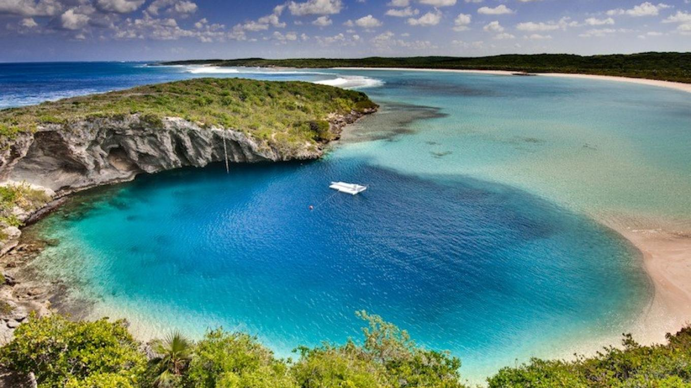 View of Dean's Blue Hole – Brittany Trubridge
