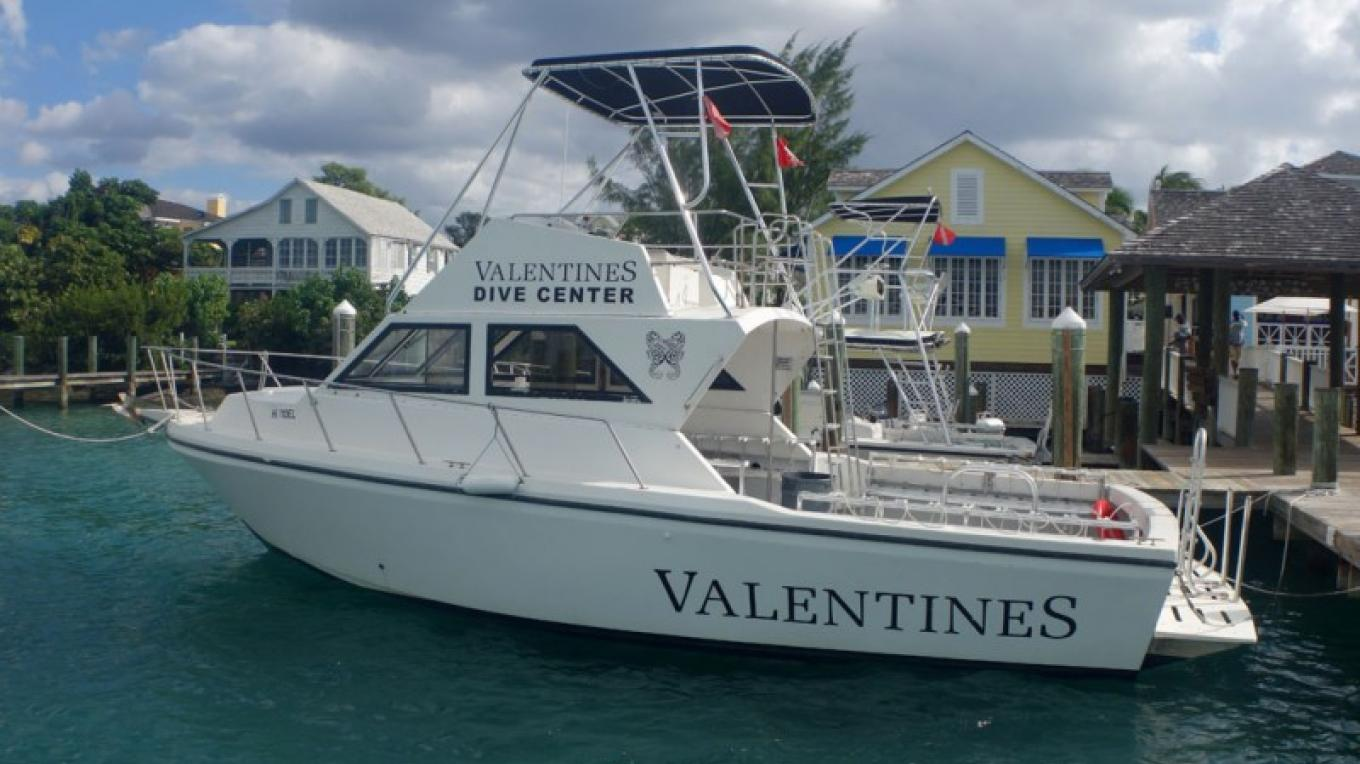 Boat at Valentine's Dive Center – George Gross-Owner, Valentine's Dive Center