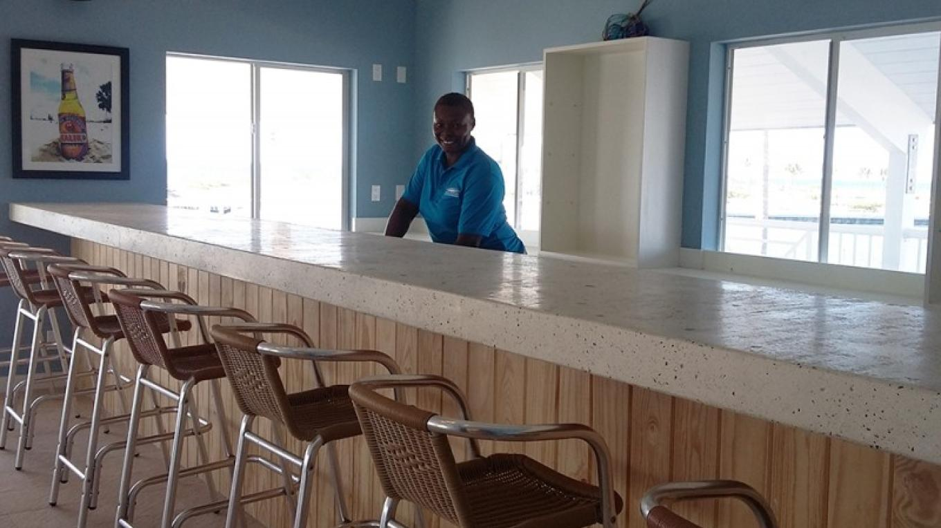 Bar area at Harbour Pointe restaurant – Cape Eleuthera