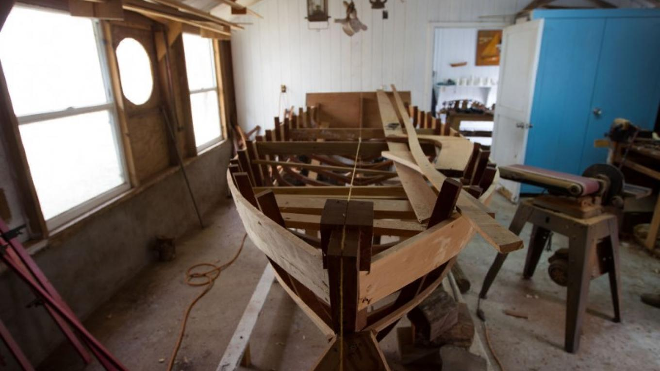 One of the Albury brothers' boats being crafted – Bahamas Ministry of Tourism