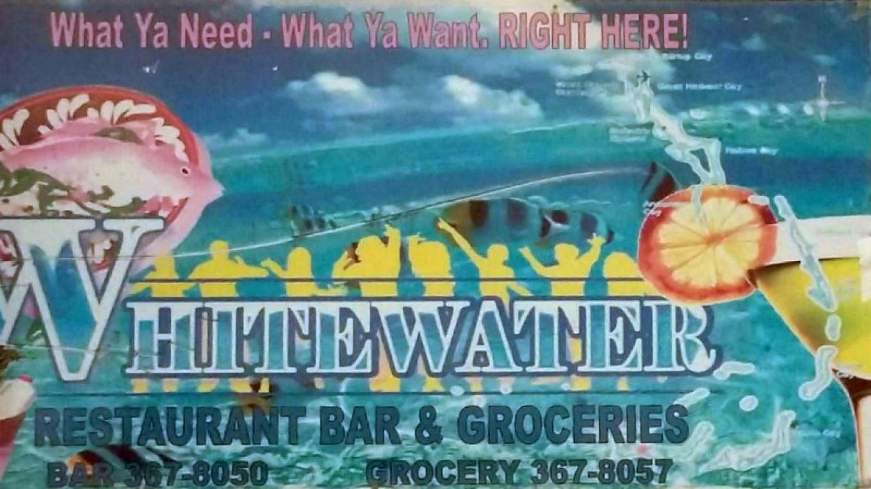 Entrance sign for White Water Bar & Restaurant – White Water Bar & Restaurant