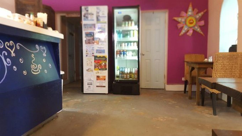 Beverage cooler inside Da Perk Cafe – tripadvisor