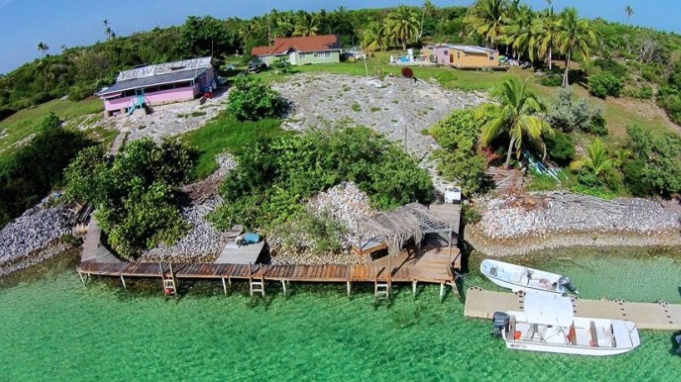 Aerial View of Flo's Conch Bar and Grounds – Mr. Chester Darville, Flo's Conch Bar