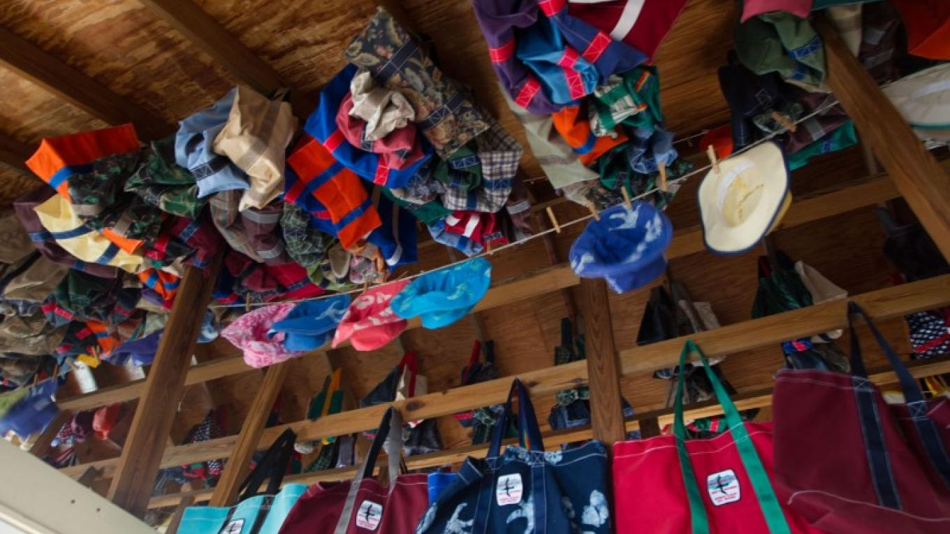 Colourful Sailcloth items at Albury's Sail Shop – Bahamas Ministry of Tourism