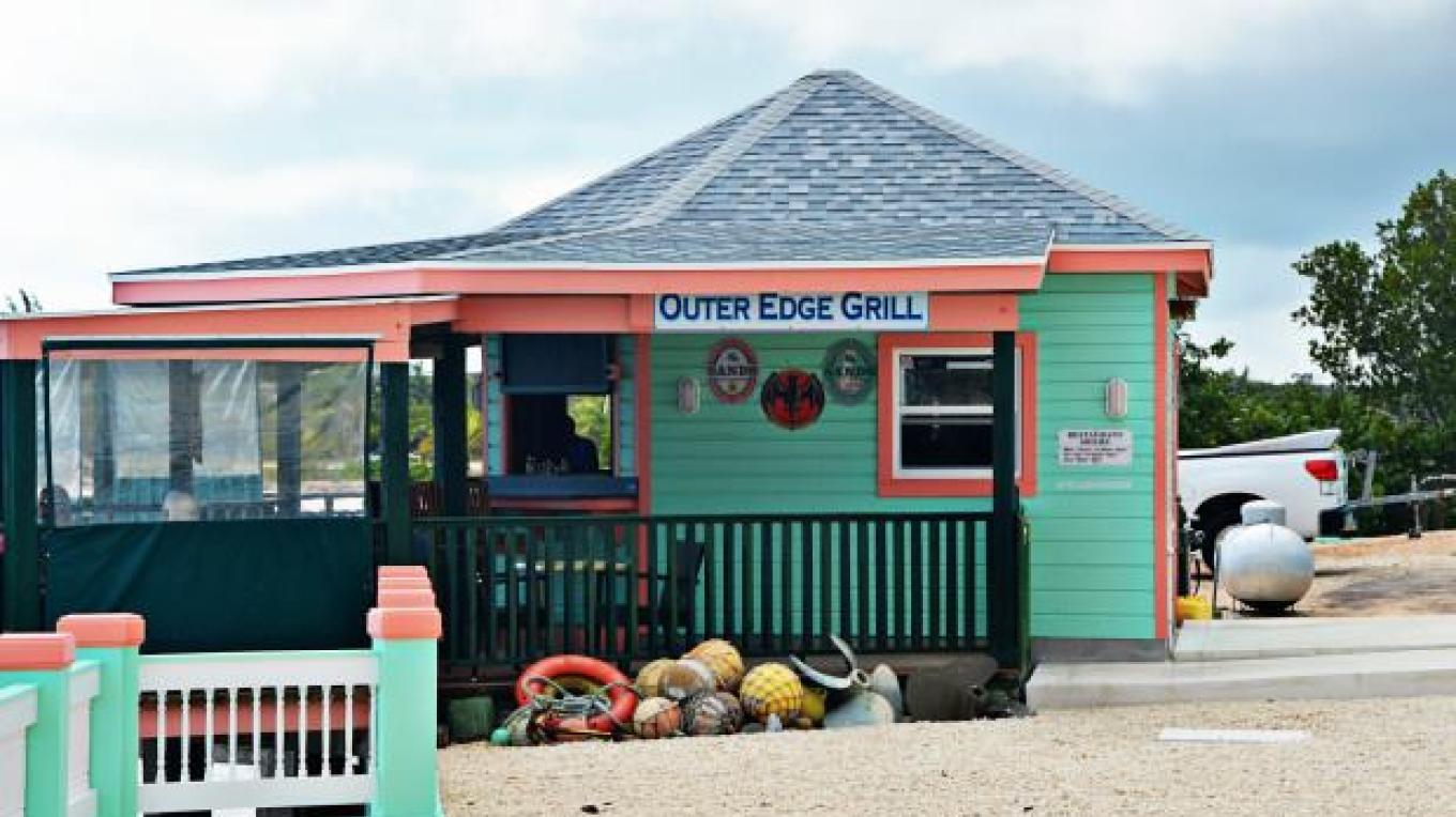 The former Outer Edge Grill. The present day Outer Edge Grill is located below the lighthouse Point Restaurant.