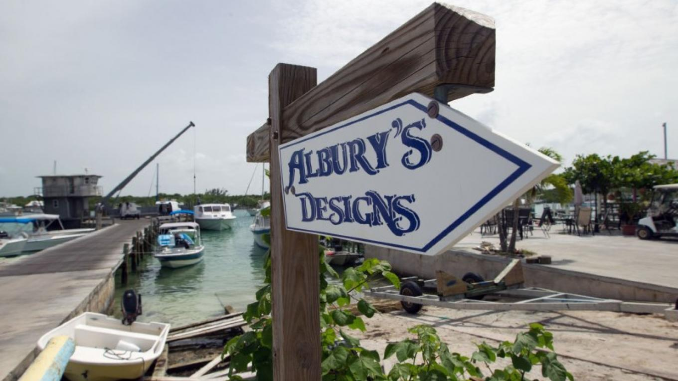 Sign for Albury Brothers' Boat Building – Bahamas Ministry of Tourism