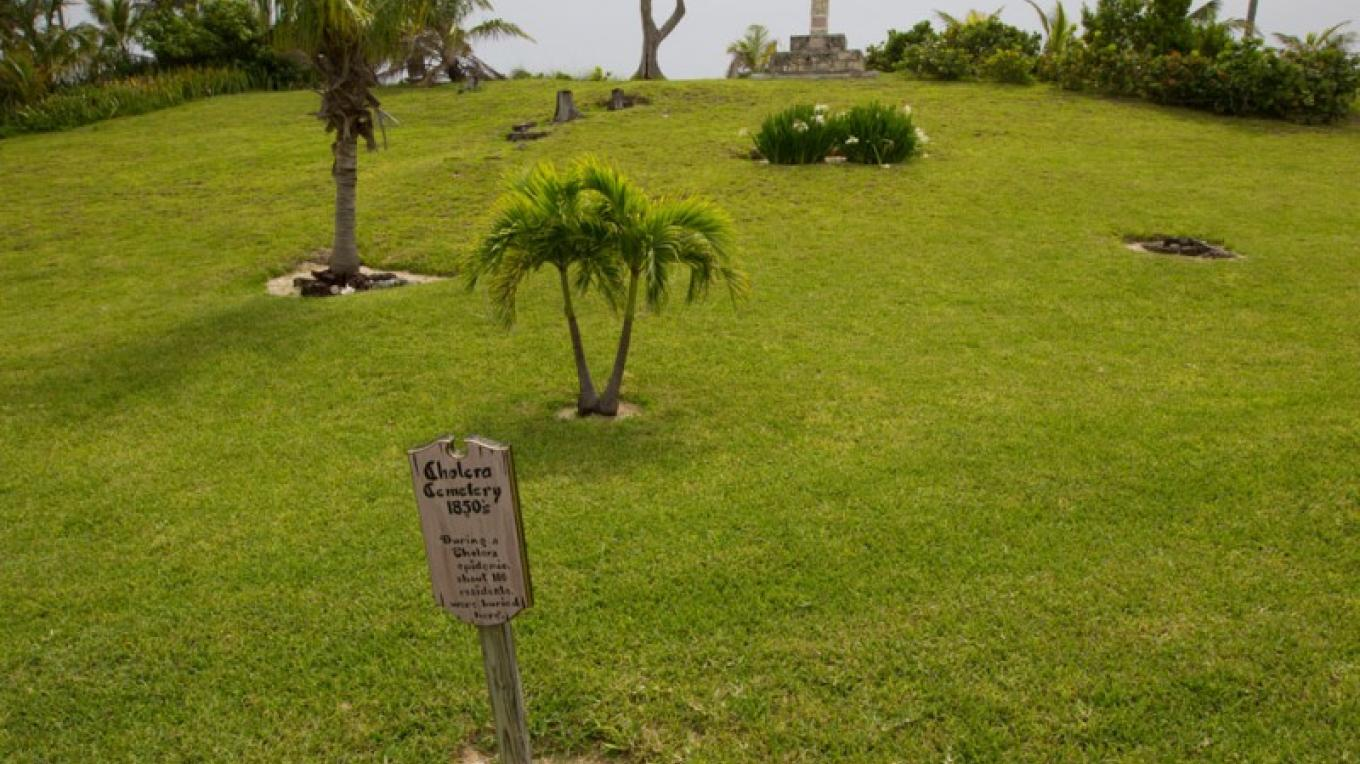 Entrance to the Cholera Graveyard on Elbow Cay, The Abacos – Bahamas Ministry of Tourism