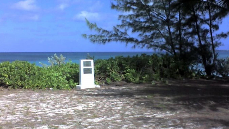 View of the Nao Santa Maria Monument at Landfall Park, San Salvador, from a distance – Mr. Clifford Fernander, San Salvador, The Bahamas