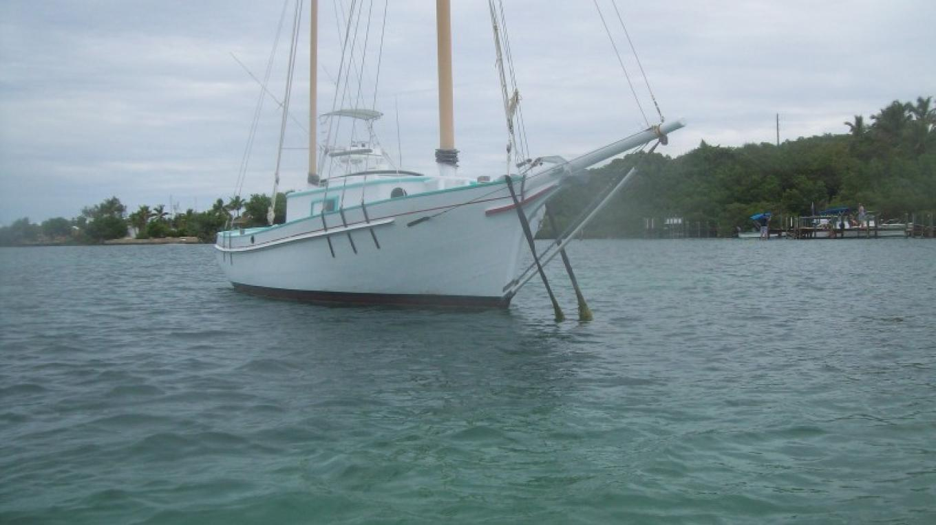 S/V Sea Fever, faithfully restored by Jay & Jan Manni. Jan is Edwin's daughter. She still runs the boatyard. – dw