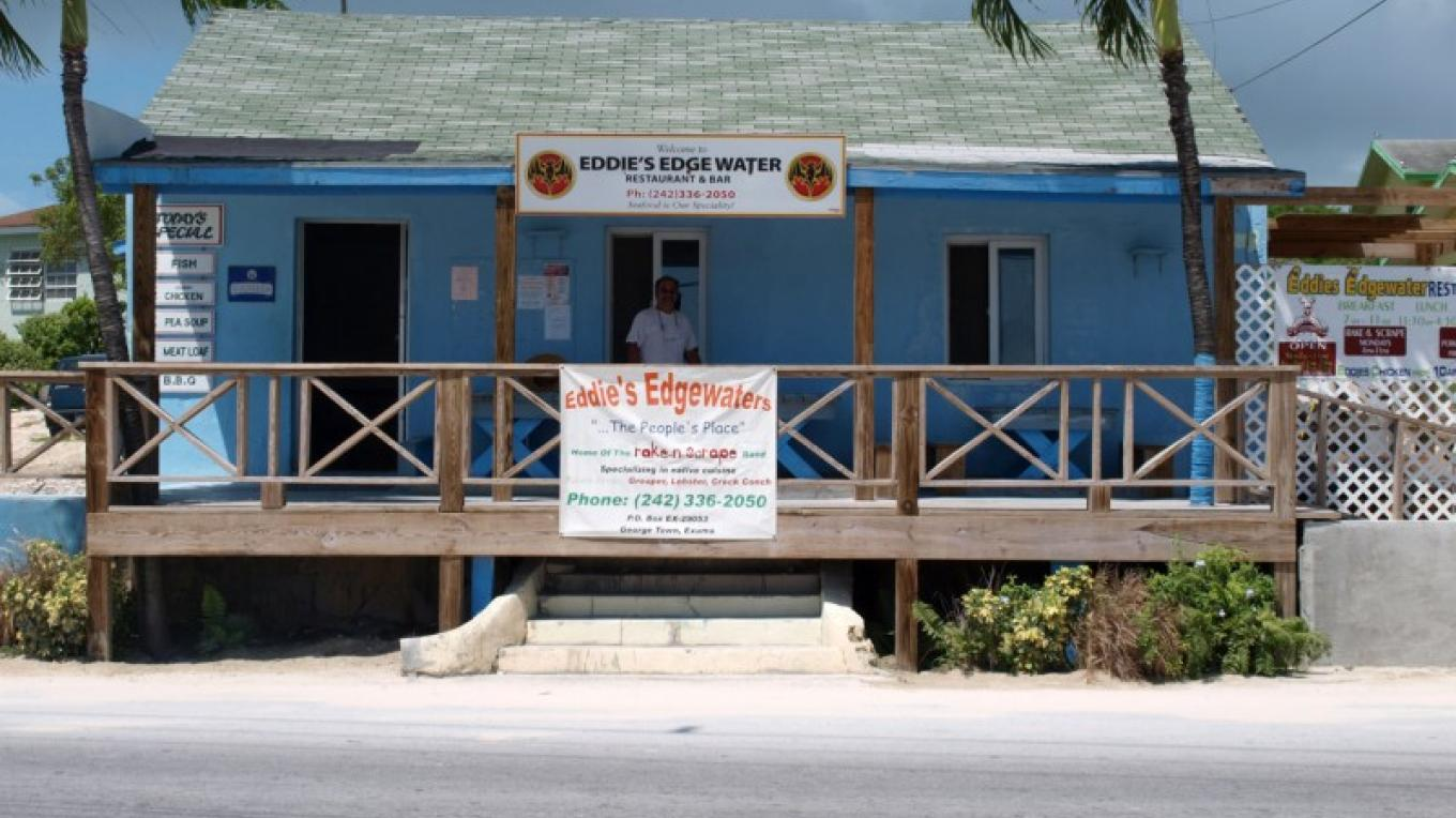 Front view of Eddie's Edgewater – Exuma Tourist Office