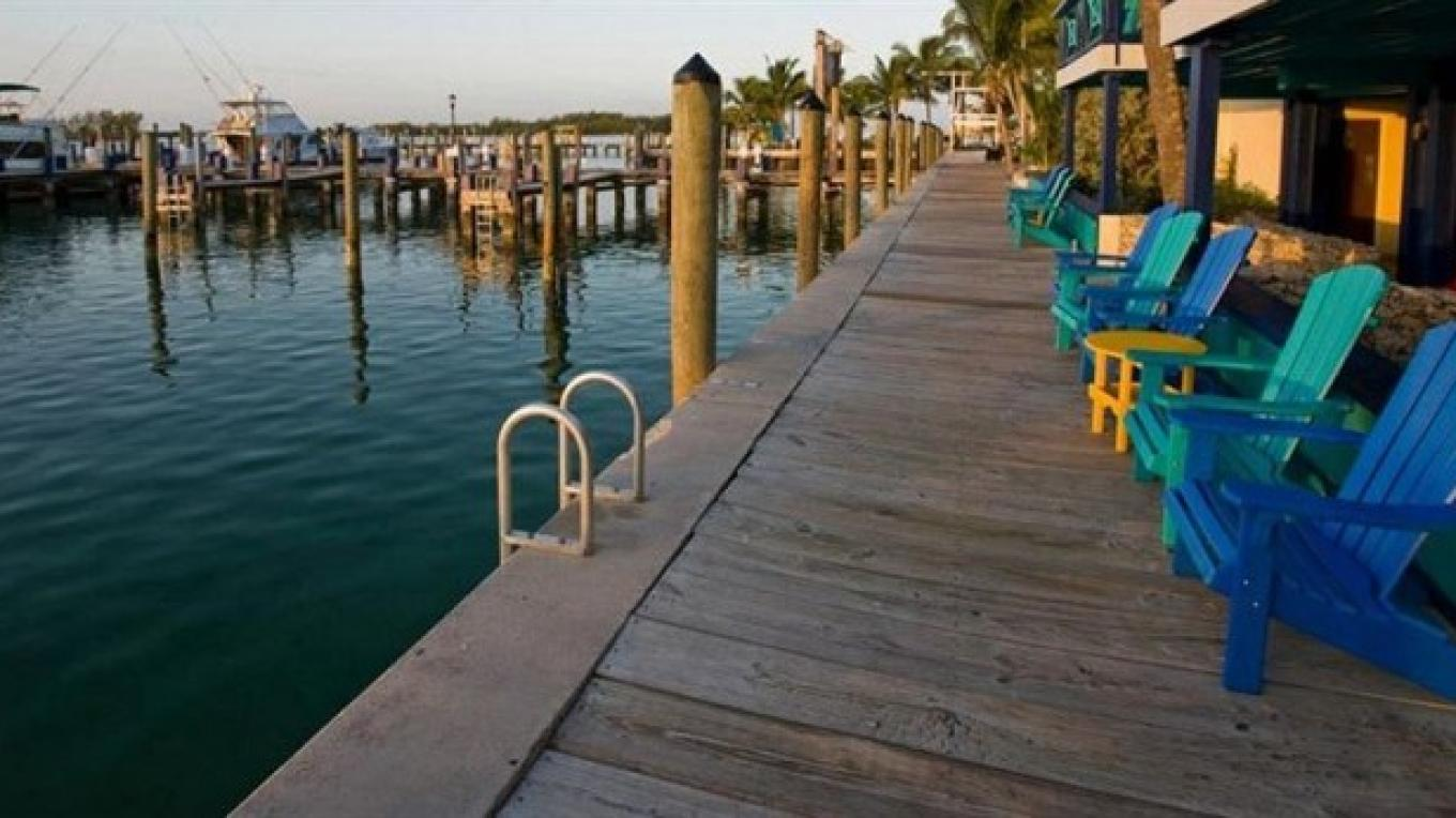 sitting dock side area – Bimini Big Game Club Resort and Marina