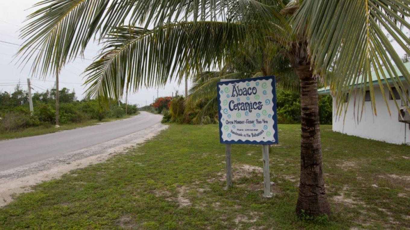 Sign for Abaco Ceramics – Bahamas Ministry of Tourism