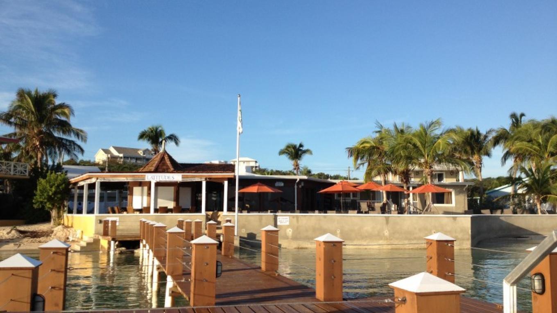Exuma Beach Resort and Latitudes from the dock – Sarah Swainson