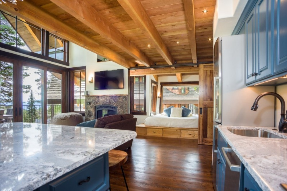 The great room and master bedroom from the kitchen – Trevon Baker