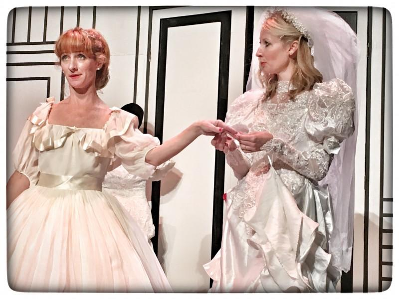 Katie Nixon & Becky Rygg in the 2016 production of Red Herring