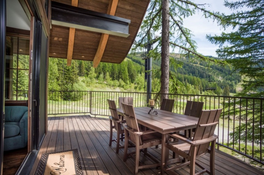 Your private balcony features a Polywood dining set for 6, a high-end gas grill and your very own hot tub! – Trevon Baker